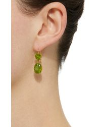 Renee Lewis - Green 18k Gold Peridot Earrings - Lyst
