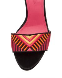 Oscar Tiye - Red Patterned Minnie Sandal - Lyst