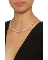 Larkspur & Hawk - Pink Bella Small Riviere Gold And Quartz Necklace - Lyst