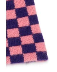d39a28089f2fa Lyst - The Elder Statesman Checkered Cashmere Beanie in Pink