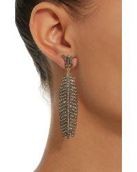Sanjay Kasliwal   Black 14k Gold And Silver Diamond Earrings   Lyst