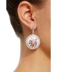 Axenoff Jewellery - Multicolor Garden Roses Earrings - Lyst