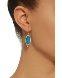Meira T - Blue 14k Gold, Opal And Diamond Earrings - Lyst