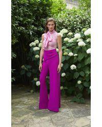 Safiyaa - Purple Calliope Overlay Trouser - Lyst