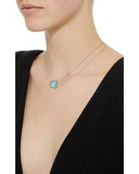 Renee Lewis - Blue 18k White Gold Gem Aquamarine Necklace - Lyst