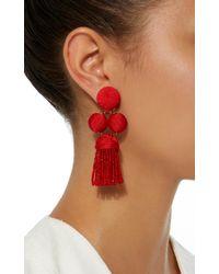 Rebecca de Ravenel - Red Cha Cha Tassel Short Earrings - Lyst