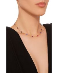 Renee Lewis | Purple 18k Gold Multi-stone Chain Necklace | Lyst