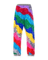 MIRA MIKATI - Metallic Rainbow Wave Sequin Jogger - Lyst