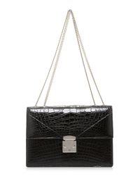 Stalvey - Black Alligator Shoulder Bag 3.0 - Lyst