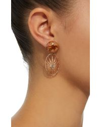 Susan Foster - Pink 18k Rose Gold, Opal And Diamond Earrings - Lyst