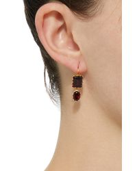 Renee Lewis - Brown 18k Gold Garnet Earrings - Lyst