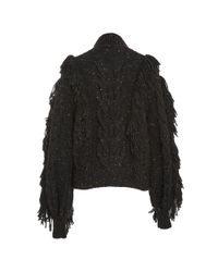 Ulla Johnson Black Marcella Fringe Pullover