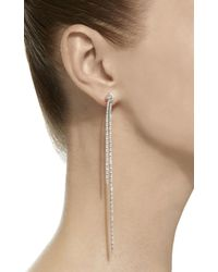 Sidney Garber - 18k White Gold Long Knots Earrings - Lyst