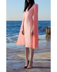 Alex Perry - Pink Nina Long Sleeve Lady Dress - Lyst