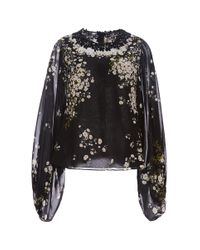 Giambattista Valli | Black Long Sleeve Shirt | Lyst