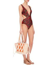 Salinas Blue Diva Low V One Piece Swimsuit