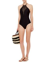 Mikoh Swimwear - Black Avalon Woven Front One Piece Swimsuit - Lyst