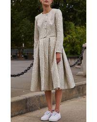 Sandy Liang Blue Ling Ling Overcoat