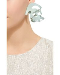Rosie Assoulin Green Mint Roxanne Assoulin For Sculptural Brass Earrings