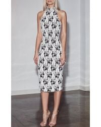 Cushnie et Ochs Multicolor Lotus Cable Embroidered Dress