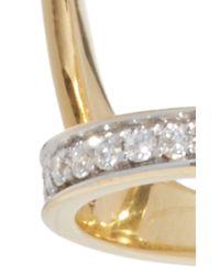 Ara Vartanian - Metallic Full Finger Black And White Diamond Ring - Lyst