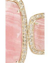 Jacquie Aiche Pink Triple Rhodo Agate Cuff