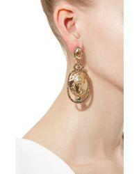 Oscar de la Renta - Metallic Portrait Drop Earring - Lyst
