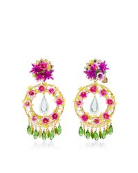 Mercedes Salazar - Blue Fiesta Flower Earrings - Lyst