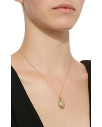 Monica Rich Kosann - Metallic Anna 18k Gold Locket Necklace - Lyst