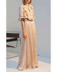 Vilshenko - Multicolor The Abigail Light Crepe Pleated Full Length Skirt - Lyst