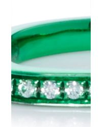 AS29 - Lana Xs Green 1line Pinky Ring - Lyst