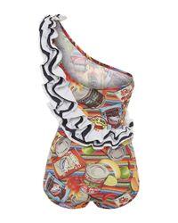 Stella Jean - White Confezionista Swimsuit - Lyst