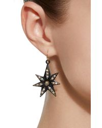 Lulu Frost - Black Orana Gold-plated Crystal Star Earrings - Lyst