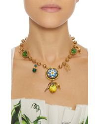Dolce & Gabbana - Metallic Charm Necklace - Lyst