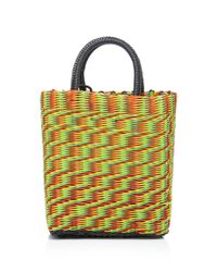 Truss - Multicolor Small Tube Weave Tote With Detachable Beaded Fob - Lyst