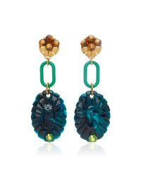 Lulu Frost - Green M'o Exclusive Vintage Tigereye And Beaded Earrings - Lyst