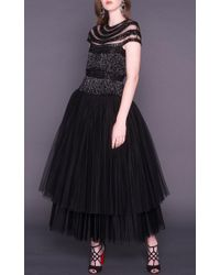 Naeem Khan - Black Tea Length Cocktail Dress - Lyst