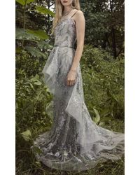 e4e5f1cc29 Marchesa Sweetheart Tulle Gown in Gray - Lyst