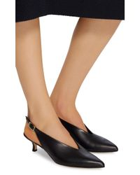 Tibi - Black Lia Leather Slingback Pumps - Lyst
