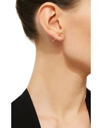 Vanrycke - Multicolor Massaï Earring In Rose Gold With White Diamonds - Lyst