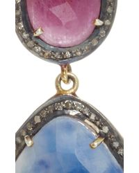 Sanjay Kasliwal - Multicolor Indorussian Sapphire And Ruby Earrings - Lyst