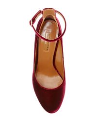 Aquazzura - Multicolor Alix Velvet Pumps - Lyst