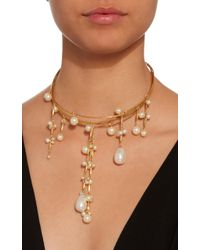 Erickson Beamon - White Pretty Woman 24k Gold-plated Crystal And Pearl Necklace - Lyst