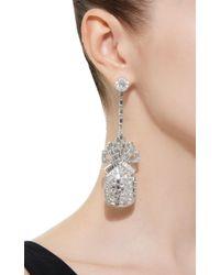 Brandon Maxwell - Metallic Pineapple Swarovski Crystal Drop Earring - Lyst