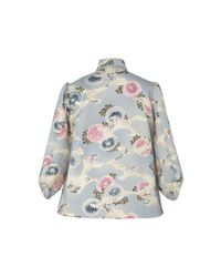 Co. - Multicolor Bonded Satin Printed Jacket - Lyst