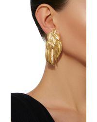 Aurelie Bidermann - Metallic Elvira Feathers Clip Earrings - Lyst