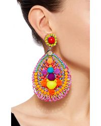 Ranjana Khan - Multicolor Embellished Drop Earrings - Lyst