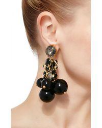 Marni - Black Strass Drop Earring - Lyst