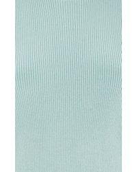 ADEAM | Blue Gathered Shoulder Rib Top | Lyst