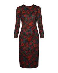 Lena Hoschek   Red Downton Winter Rose Dress   Lyst